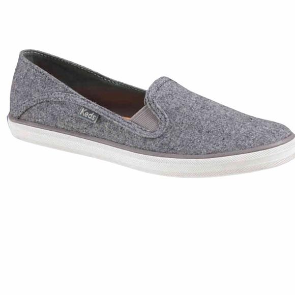 Keds gray wool blend slip on sneakers